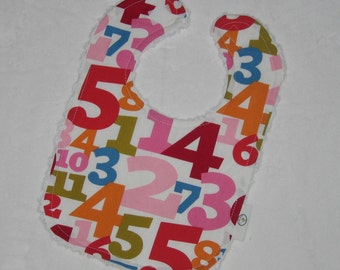 A. Henry What's Your Number Fabric and Chenille Boutique Bib - SALE