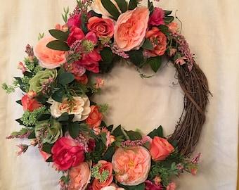 Spring Wreaths For Front Door - Front Door Wreaths - Summer Wreaths - Spring Door Wreaths - Summer Door Wreaths - Spring Decor - Door Wreath