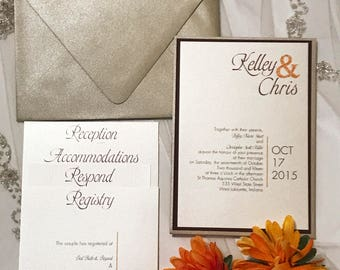 Modern Bride Wedding Invitation