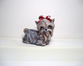 Yorkie, miniature ceramic Yorkie, miniature ceramic Yorkshire terrier