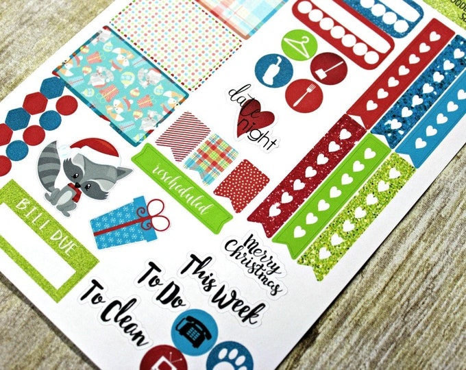 Planner Stickers Sampler - Happy Planner - Christmas Planner Stickers - Functional stickers - Fits Erin Condren - Sticker Sampler