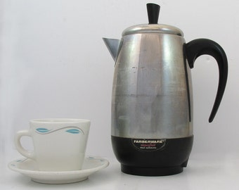 Mid Century Farberware Superfast Electric Percolator - Coffee Maker - 8 Cup - Model 138B