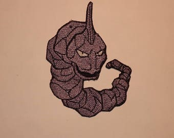 Onix Rock Pokemon Nintendo Embroidery Embroidered Iron On Patch