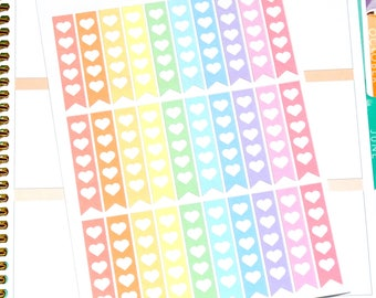 Pastel Heart To Do Checklist Stickers - To Do Checklist Flags - Checklist Stickers - Planner Stickers - Heart Checklists - Pastel Checklists