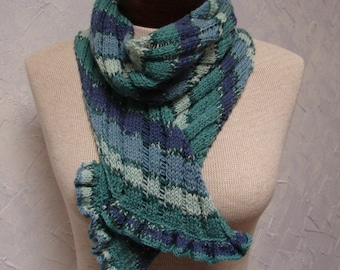 Pattern Lace With Ruffle Scarf or Shawl