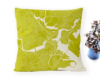 BOSTON Map, Throw pillow for your home decor,  Map of BOSTON Cushion Cover, Custom Wedding Pillow Cover, anniversary gift