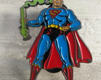 Superman - Faster than a speeding bullet - Superman with Krypto - Hatpin
