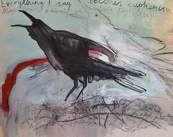 PRINT: Crow - signed giclee print by Nicky Arscott