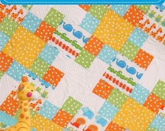 PDF Baby Quilt Pattern - Baby Unisex Quilt Pattern - PDF Quilt Pattern - PDF Easy Quilt Pattern - Digital pdf - Animal Quilt