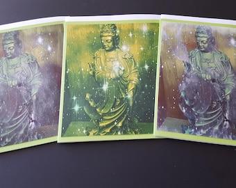 Quan Yin 3 Card Set Green Two