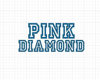 Pink Diamond - Iron On Vinyl Decal Heat Transfer