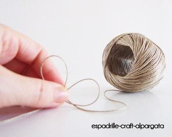 hemp thread - n8 - to sew espadrilles - 80 mt