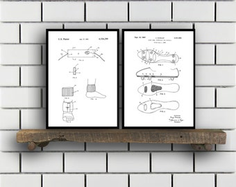 Soccer Patent Prints - Set of 2 - Soccer Patent, Soccer Poster, Soccer Cleats Blueprint, Soccer Cleats Print, Soccer Art, Sports Decor