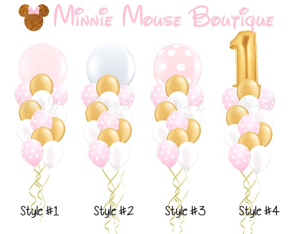 pink and gold giant balloon bouquet minnie mouse boutique theme rh etsystudio com Birthday Balloons Clip Art Sun Clip Art