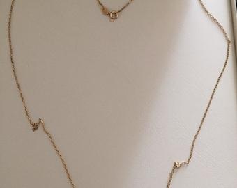 Vintage 18ct gold box necklace