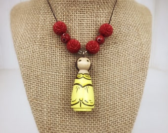 Princess necklace, beauty and the beast