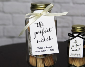 The Perfect Match - Wedding Favor Tag - Match Favors - Match Wedding Favors - Custom Tag - Personalized Tags - Party Favor Tags - SMALL