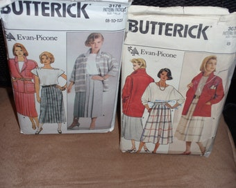 Butterick 3076 or 3176 Misses'  Jacket, Shirt, Skirt  Size 8-10-12   New Uncut