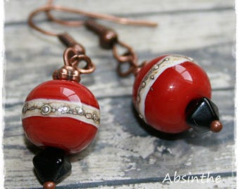 -Pierced earrings - pomegranate - summer Collection-
