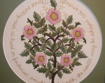 The Rose Tree of Life- crewel embroidery kit