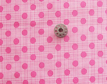 FAT EIGHTH Pink on Pink Polka Dot Fabric | Small cut of Dotty Screen from Wing and Leaf by Gina Martin for Moda.