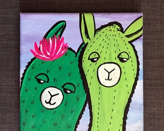 Just a couple of llamas painting