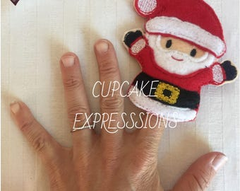 Santa Clause - Finger Puppet, Quiet Time Play Toy - Imaginative Play - christmas, santa's little helper, toy maker North Pole