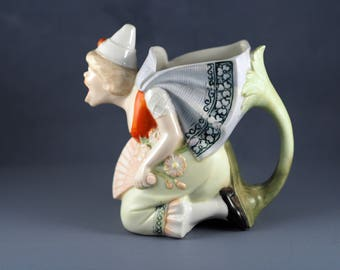 Schafer and Vater Novelty Pitcher Dutch Screaming Witch Antique