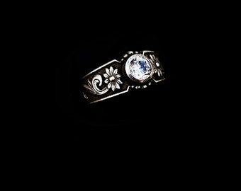 Rockin Out Jewelry - Samantha - Sterling Silver - Western Style Ring - Classy Elegant Western Jewelry - Gift For Her - Antiqued - Valentines