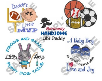 Baby Boy - Machine Embroidery 5 Pack