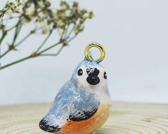 Tufted Titmouse handmade necklace