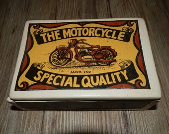 Ceramic Box with Lid - The Motorcycle