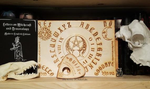 Wooden Ouija Board Planchette W Wiccan Zodiac Symbols