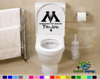 Harry Potter Inspired Ministry of Magic This Way Decal