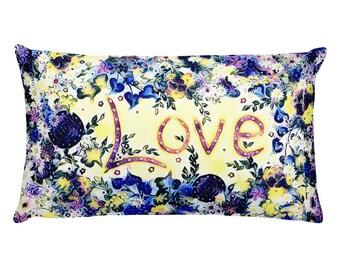 Love Blue Pillow