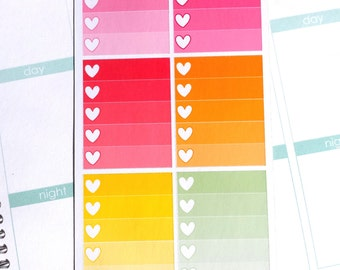 Bright Ombre Checklist Boxes (Perfect for Erin Condren Life Planners)