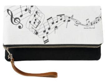 Musical Fold-Over Clutch