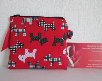 HALF PRICE SALE Dogs Credit Card/Coin Purse