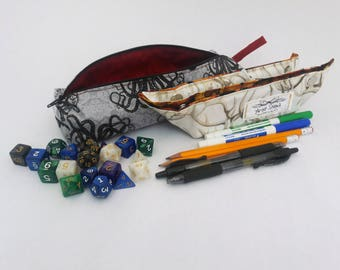 Custom Portable Dice or Jewelry Tray AND Carrying Case Bag Pouch Gift DND Pathfinder