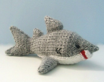 Amigurumi Knit Shark Pattern Digital Download