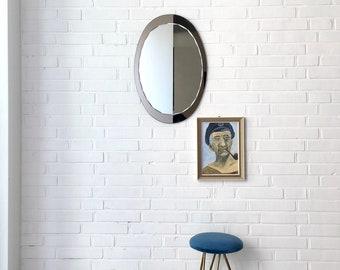 Vintage Spiegel, Mid Century Spiegel, Wandspiegel oval, Schlafzimmer Spiegel, Flur Spiegel, Vintage Interior
