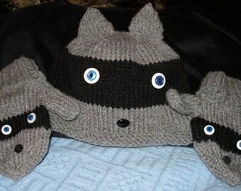 Rowdy the Raccoon Hat Set