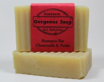 Nettle & Chamomile Shampoo Bar - All Natural Shampoo, Handmade Shampoo, Homemade Shampoo, Handcrafted Shampoo