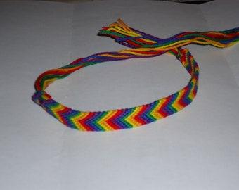 Rainbow pride chevron friendship bracelet FREE SHIPPING to USA