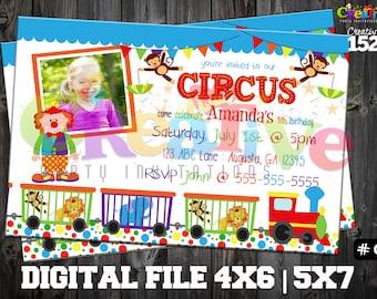 Circus Invitation | Circus Party Invitation | Custom Party Invitation | Circus Party Printable | Circus Party | Printable Invitation