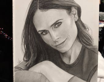 Original Sketch of Jordana Brewster (NOT a print)