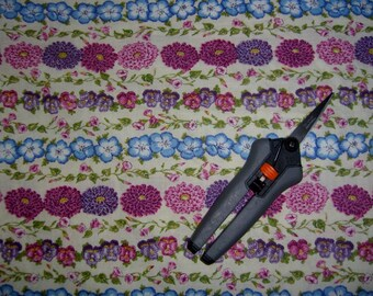 Floral fabric with flowers stripes cotton print sewing quilting material to quilt BTY by the yard quilter sewer crafts