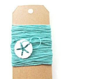 Seafoam Bakers Twine - 10yds Solid Bakers Twine - Summer Collection ,  wedding, gift tags, bunting banners