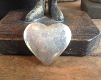 Sterling silver Mexican heart pendant