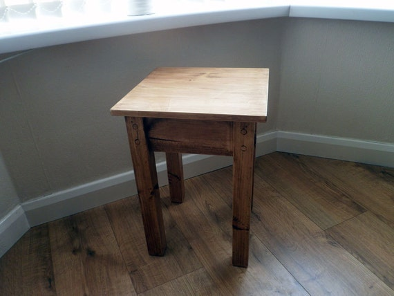 Handmade Rustic End Table Side Table Small Side Table